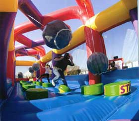 Interactive And Inflatable Amusement Ride Rentals Fun Makers